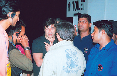 Security Detail for Actor Sunny Deol