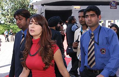 Security Detail for Actress Kim Sharma
