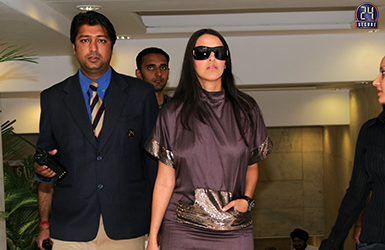 Security Detail for Actress Neha Dhupia