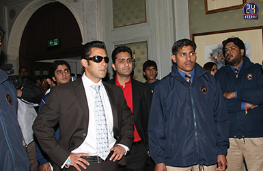 Security Detail for Actor Salman Khan